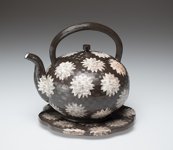 Kettle with Dandelion Pattern