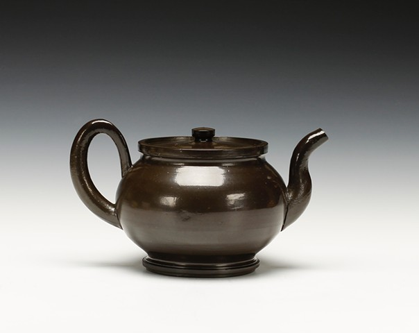 Black Salt Teapot