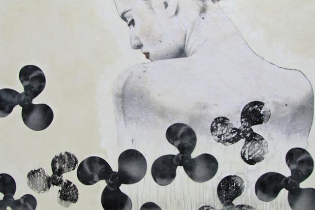 Susan Skrzycki, lady, woman, female, propeller, outboard, motor, art, picture, encaustic, the, a