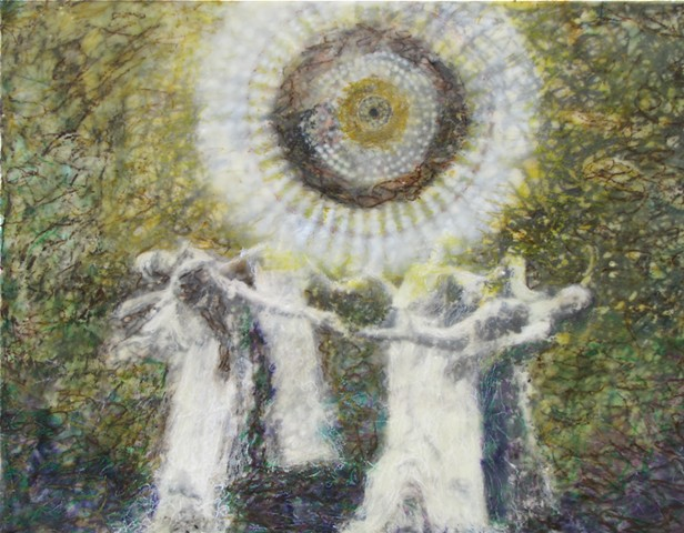 susan skrzycki, encaustic, art, mixed media, painting, dancing, women
