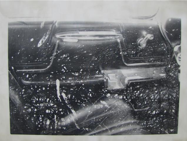 Skrzycki, Cadillac, Deville, interior, car, art, picture, encaustic, black and white, photo