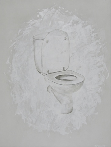 Susan Skrzycki, toilet art the a painting picture white