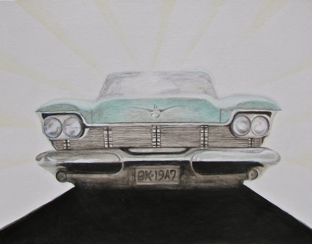 1958 Chrysler Imperial, art, painting, car, picture, fine art