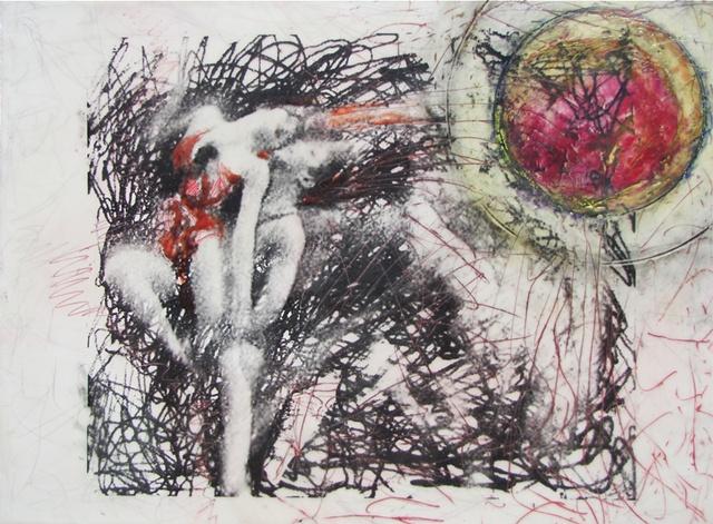 Susan Skrzycki, dancers, art, encaustic, collage, picture, contemporary, last, time
