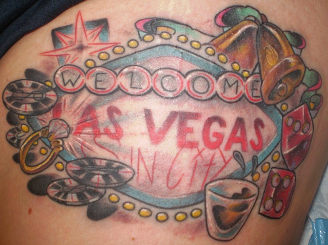 vegas sign tattoo