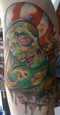 Tattoo zombie biker