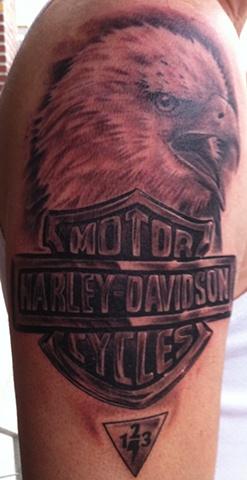 eagle tattoo harley davidson