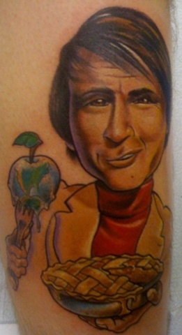 Caricature portrait tattoo color
