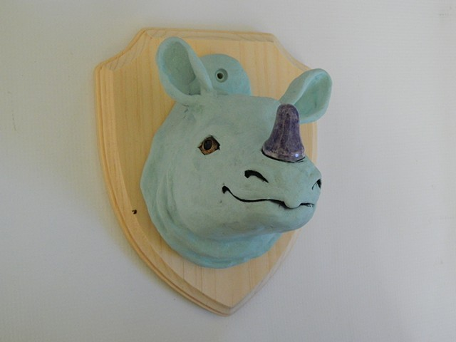 Rhino Taxidermy Head