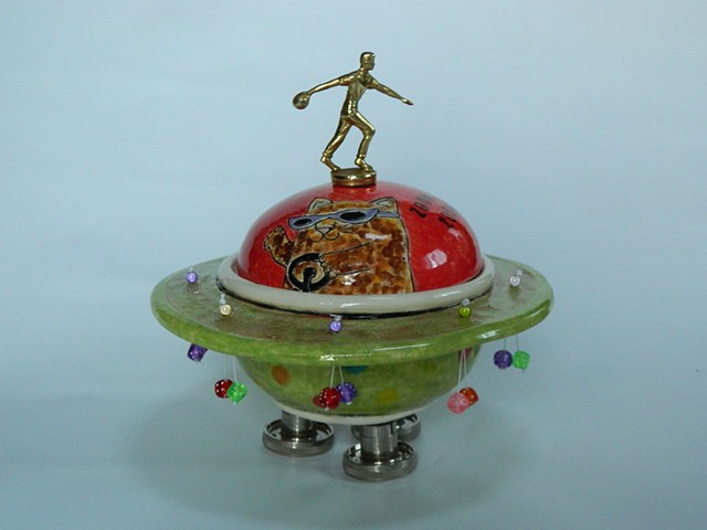 Space Cat Lidded Jar