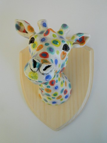 Giraffe Taxidermy Head