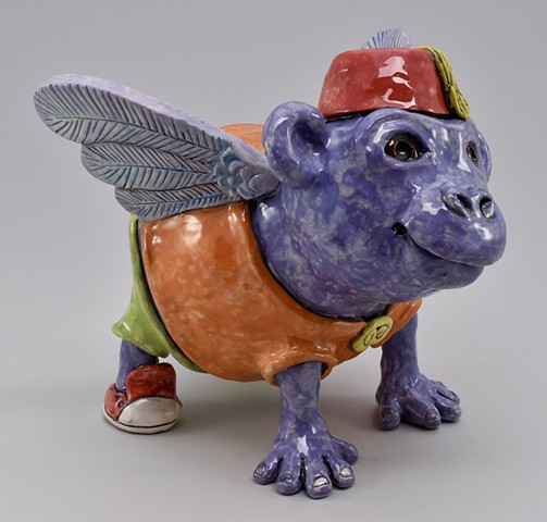 Winged Grape Ape Figure
