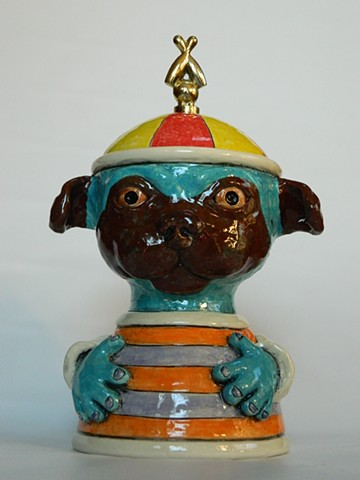 Pug Lidded Jar