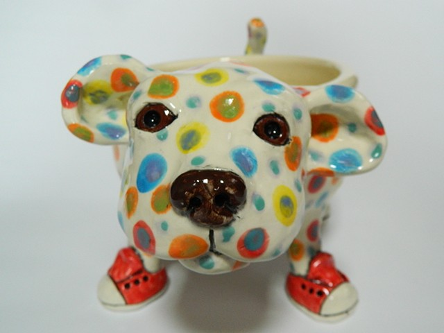 Polka Dog Bowl