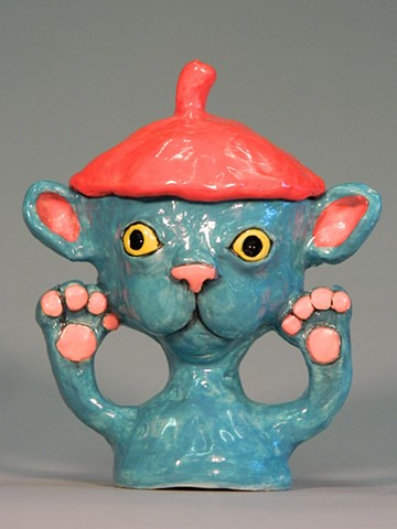 Beret Kitty Lidded Jar
