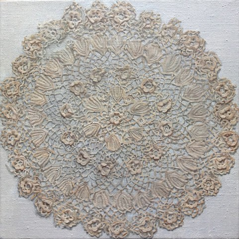 Great-great grandmother's 1882 crocheted doily - personal history and women's handcrafts