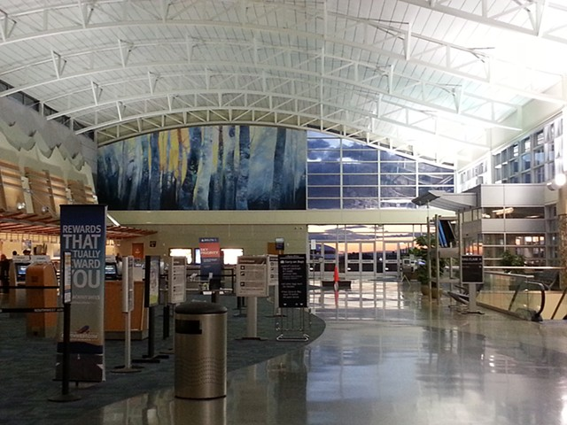 AIRPORT MURAL Along The River's Edge