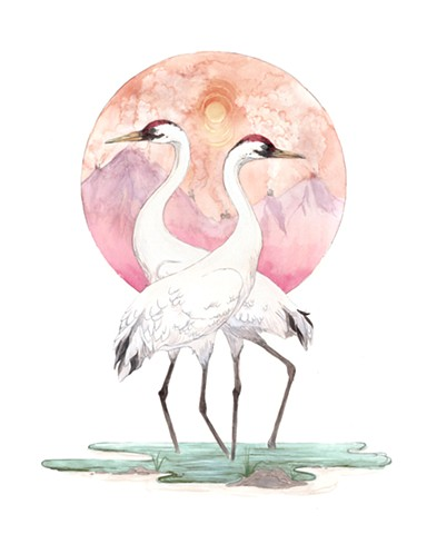 Whooping Crane print by Jenny Kendler