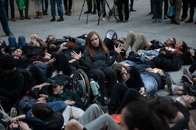 Oct 7th - Launch of the International Rebellion - Youth Climate Strikers Die-in