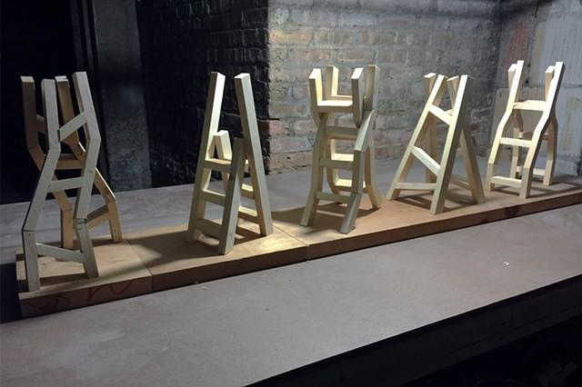 Maquettes for A Crooked Stile