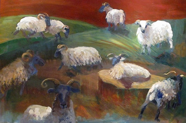 Composition with Sheep