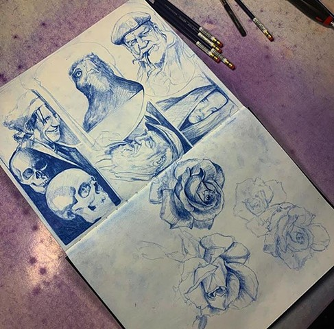 art artwork sketching pencil sketching on paper in a sketch book for fun so fuck you