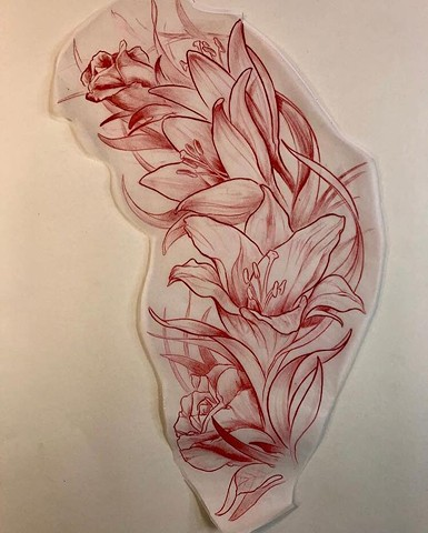 Tattoo Art Flowers