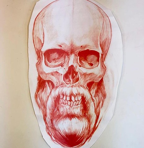 bearded skull tattoo art