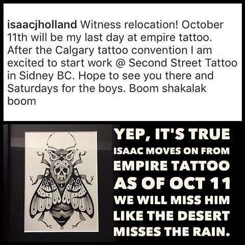 Isaac is moving!