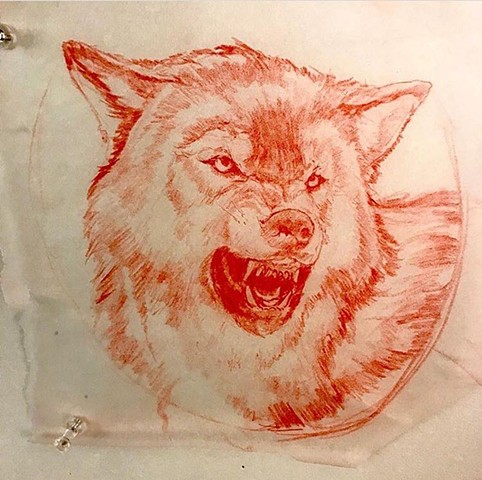 Tattoo Art wolf