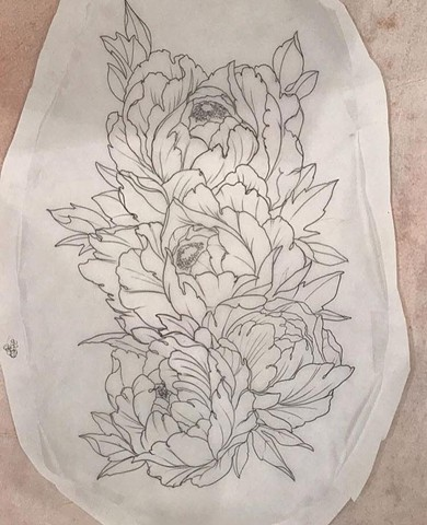 flower tattoo art