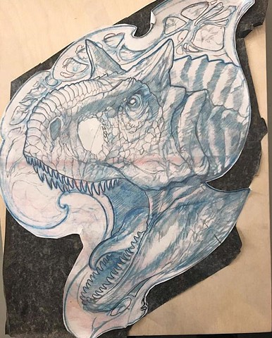 Dinosaur art sketch