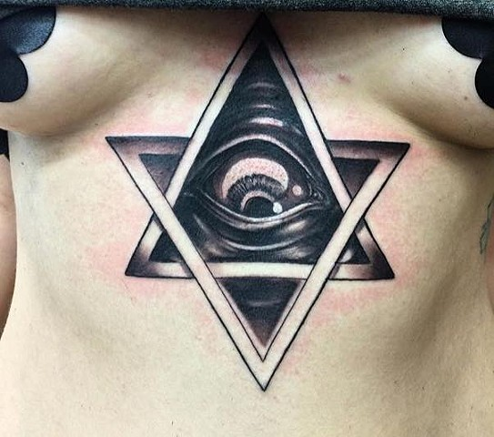 all seeing eye star