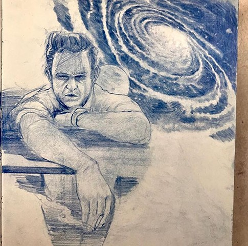 spacey art sketch
