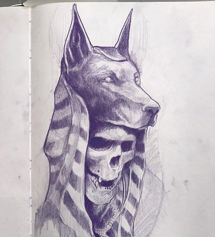 Egyptian art sketch