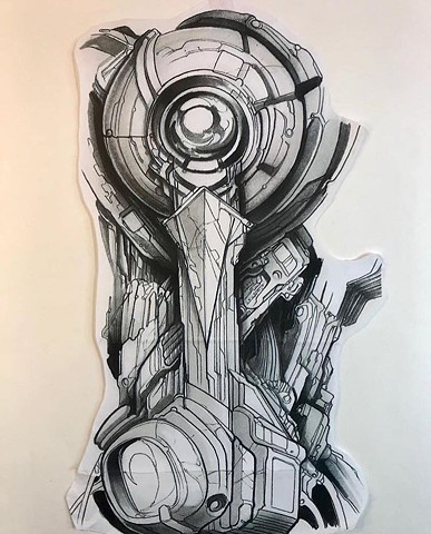 Bio-Mechanics Tattoo Art