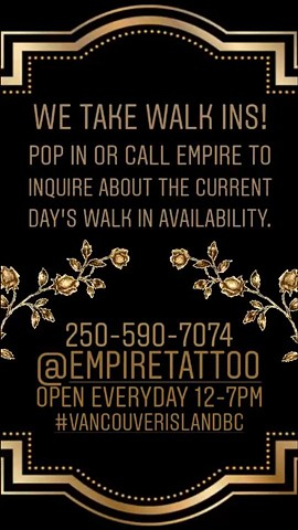 We take walk ins!