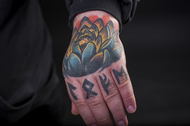 lotus hand colour tattoo 2