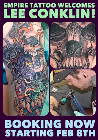 Empire Tattoo Welcomes Lee Conklin to our Team!