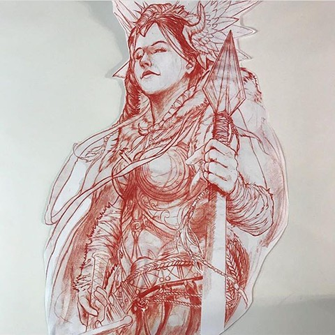Valkyrie tattoo art