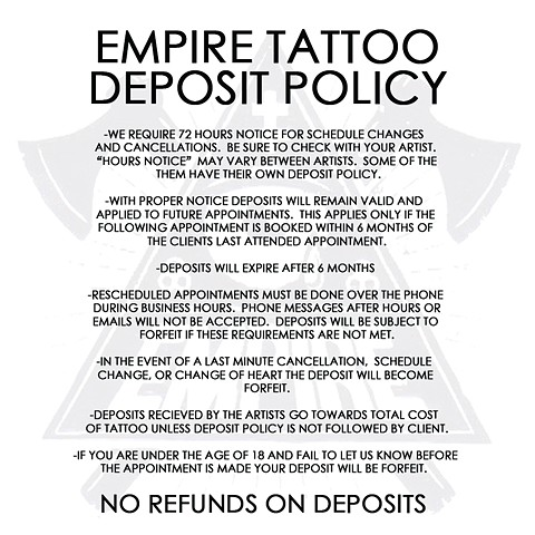 Deposit Policy Update