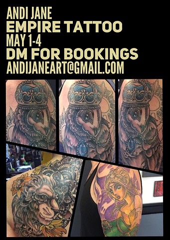 Andi Jane to guest at Empire Tattoo May 1-4