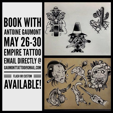Get tattooed by Antoine Gaumont