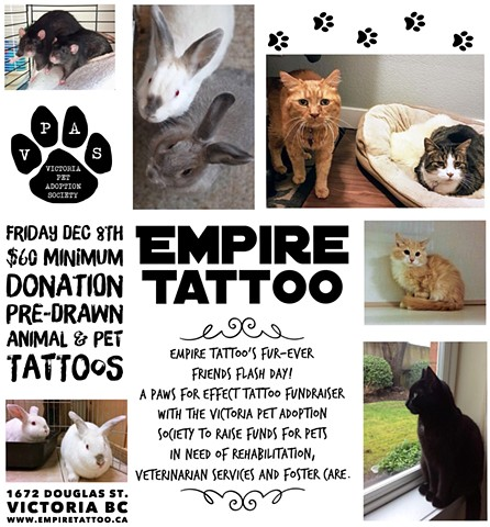 Empire Tattoo's Fur-Ever Friends Flash Day event!