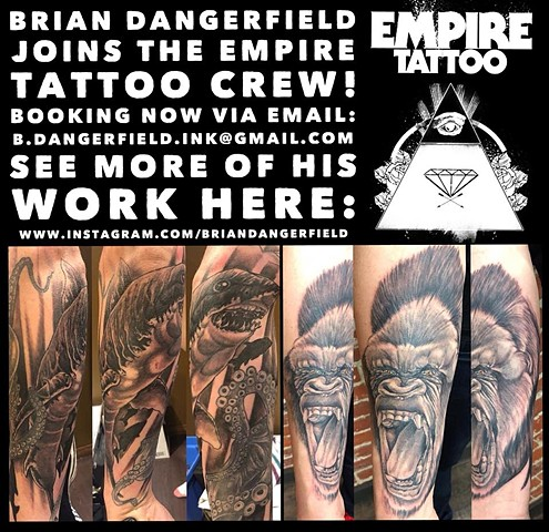 Brian Dangerfield joins Empire Tattoo