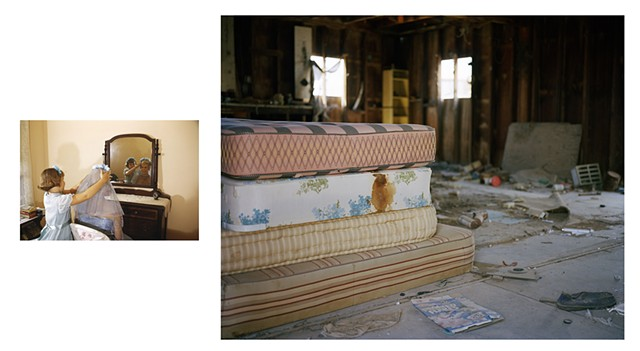 Untitled Diptych, Photograph Paired with Found Slide