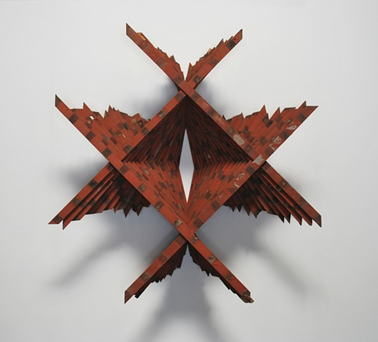 Untitled III, (red/brown)