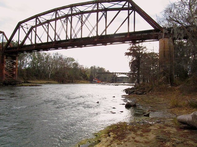 Three Bridges from Upstream (West Bank)