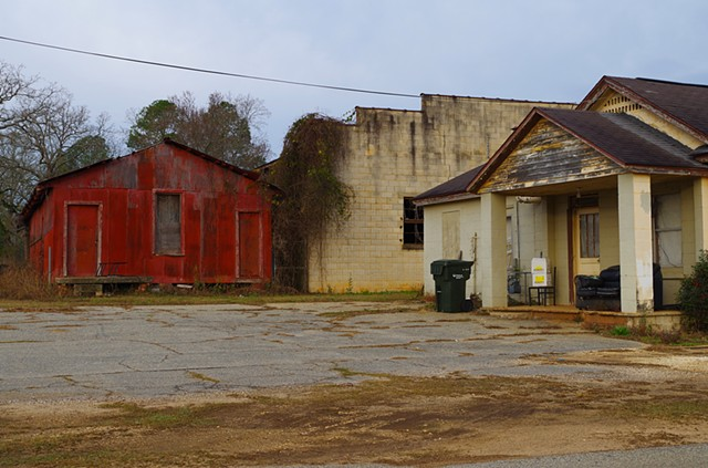 Storehouses Near Railroad Tracks.  Edison, GA.