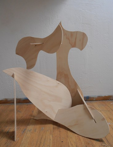 plywood sculpture